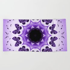 All things with wings (purple) Beach Towel