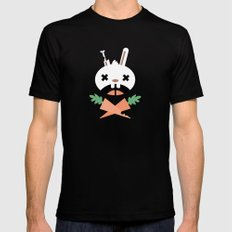 Bunny Death MEDIUM Mens Fitted Tee Black