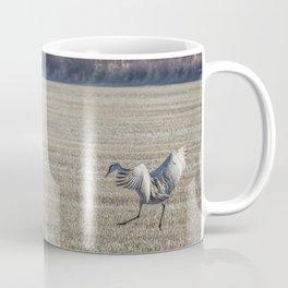 Sandhill Cranes Pair Landing Coffee Mug