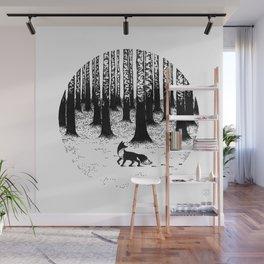 Snow Fox Wall Mural