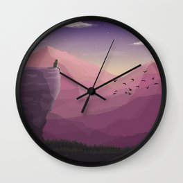 The sky is Blue Wall Clock