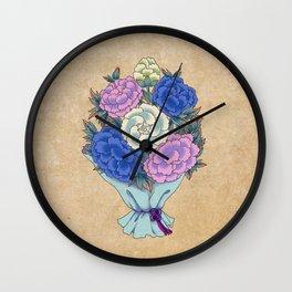 Minhwa: Peony Bouquet C Type Wall Clock