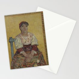 Vincent van Gogh - The Italian Woman (1887) Stationery Cards