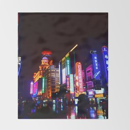 Shanghai 一 Throw Blanket