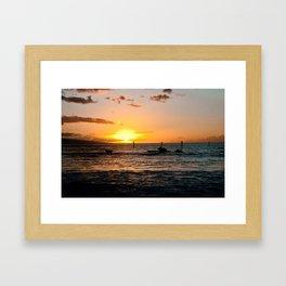 Luau at sunset Framed Art Print