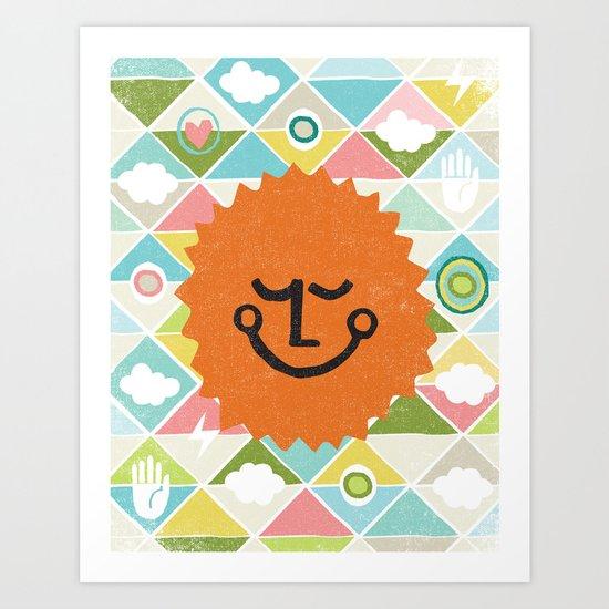 SUNNY TIME Art Print
