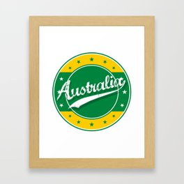 Australia, circle, green yellow Framed Art Print