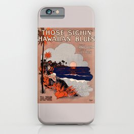1916 Vintage Hawaii blues sheet music cover  iPhone Case