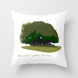 Bolton's Bench, Lyndhurst, New Forest Throw Pillow