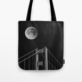 Full Moon Over Golden Gate Bridge San Francisco, California Tote Bag