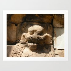 Angkor Wat wall carving Art Print