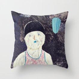 swimmer #1 Throw Pillow