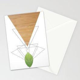 Geometric Leaf Stationery Cards