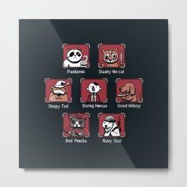 Video Game Characters Metal Print