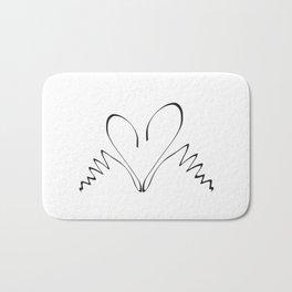 Two swans hand drawn minimalist print Bath Mat