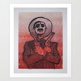 Dia de los Muertos - Gunslinger  Art Print