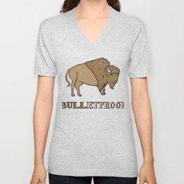 Bulletproof Bison Buffalo Gift Unisex V-Neck