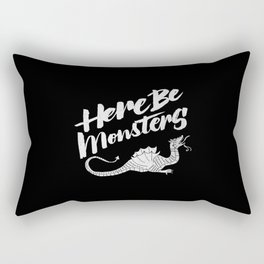 HERE BE MONSTERS Rectangular Pillow