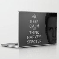 suits Laptop & iPad Skins featuring KEEP CALM - HARVEY SPECTER SUITS by Mental Activity