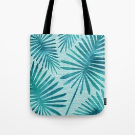 Mid Century Tiki Fronds Tote Bag