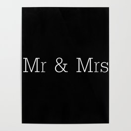 Mr & Mrs Monogram Standard Poster