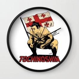 """Sumo-Ringer """"Tochinoshin"""" Rikishi Georgia ノ 心 剛 ლევან გორგაძე Wall Clock"""
