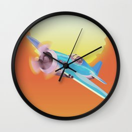 Vintage Fighter aircraft Wall Clock