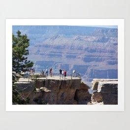 Grand Canyon shades of color Art Print