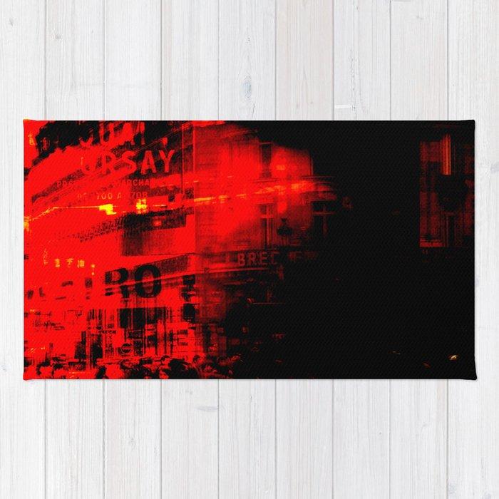 1st arrondissement-red2 Rug