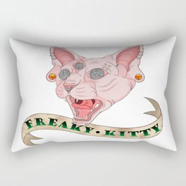 Freaky Kitty Rectangular Pillow