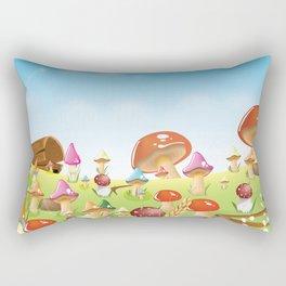 Mushroom fields panorama Rectangular Pillow