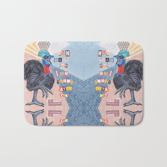 Mrs Cassowary Bath Mat