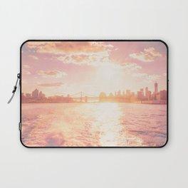 New York City Skyline Sunset Laptop Sleeve