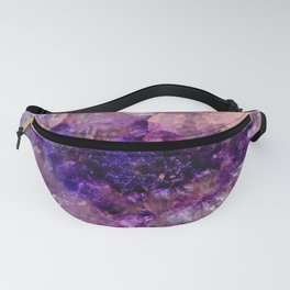 """""""Purple and Violet Agate Crystal"""" Fanny Pack"""