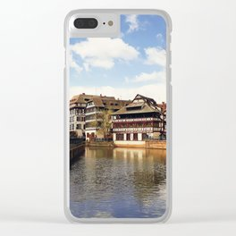 Strasbourg old city center Clear iPhone Case