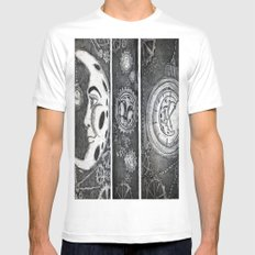 Living the Moontime MEDIUM White Mens Fitted Tee