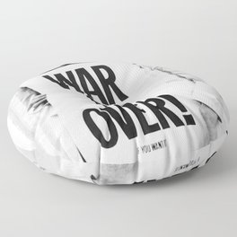 ohn Len-non and Yoko Ono WAR IS OVER Poster, The Bea-tles, pea-ce Iconic Vintage Art Photography Picture, Home Décor Wall Art Floor Pillow