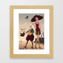 Aren and Than Framed Art Print