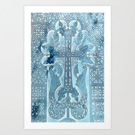 Celtic Blue - JUSTART © Art Print