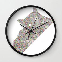 Composite Cat Wall Clock