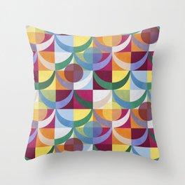 Energetic Geometric (Global) Throw Pillow