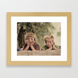 Oklahoma Refugee Children 1936 Framed Art Print