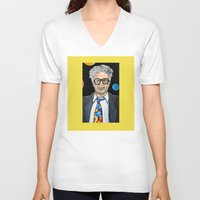 snl V-neck T-shirts featuring Will Ferrell as Harry Caray SNL by Portraits on the Periphery