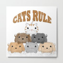 Cats Rule - The Animal Pyramid Metal Print