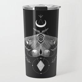 Metaphys Moth - Black Travel Mug