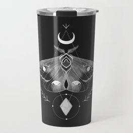Metaphys Moth - Black Travel Mug