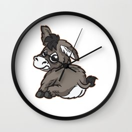 Kiss My Ass Donkey Wall Clock