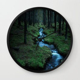 Moody Forest Wall Clock