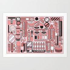 Beauty Routine Classy Art Print