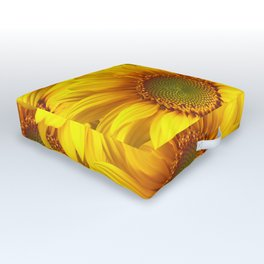 Yellow Mellow Sunflower Bouquet #decor #society6 #buyart Outdoor Floor Cushion